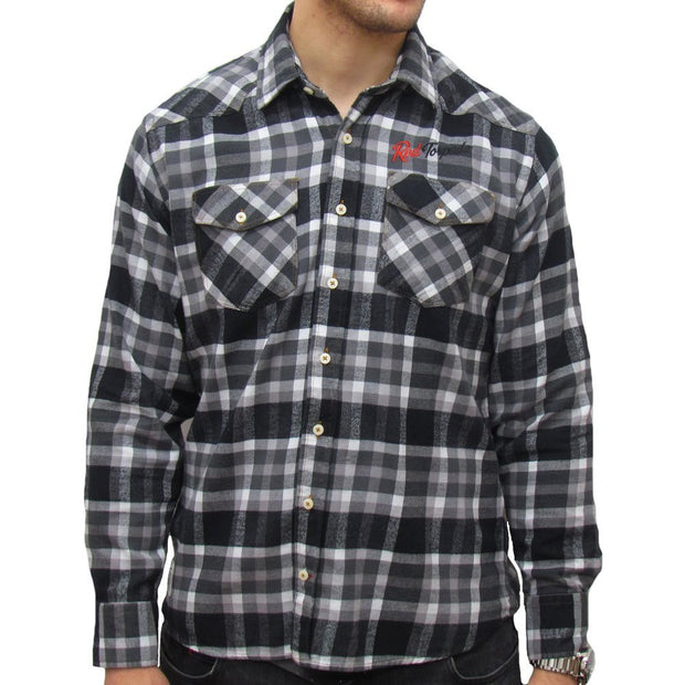V-Twin Long Sleeve (Mens) Checked Shirt