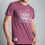Lee Johnston F13K Cancer Burgundy (Mens) T-shirt