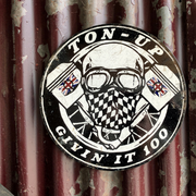 Ton Up GI100 Round Garage Plate