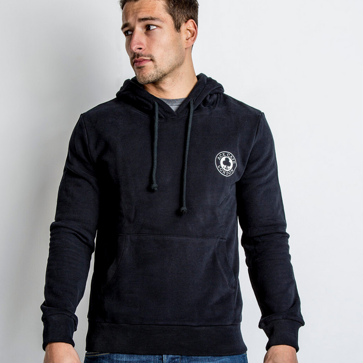 Red Torpedo Ace Cafe Ton Up (Mens) Black Hoodie