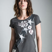Lee Johnston General Lee (Ladies) Graphite T-Shirt