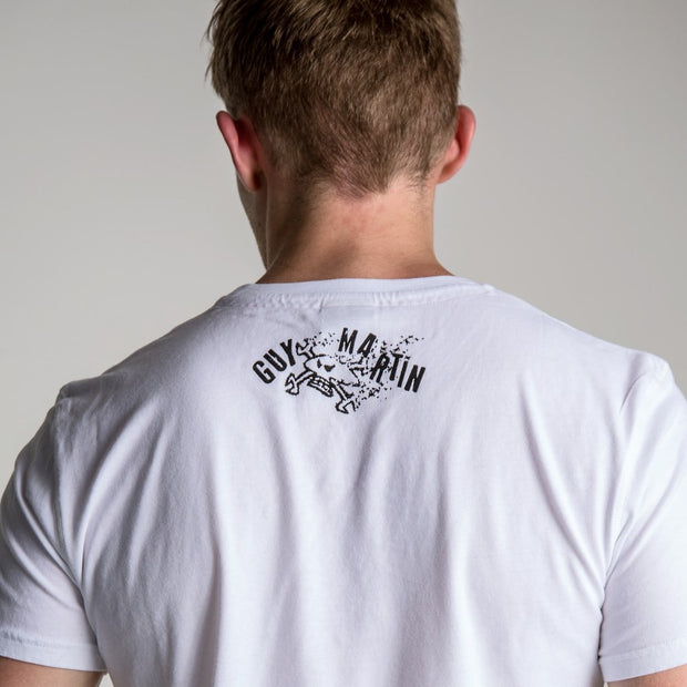 Guy Martin Good Times 17 White (Mens) T-Shirt