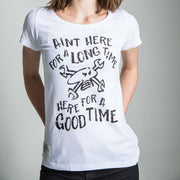 Guy Martin Good Times White (Ladies) T-shirt