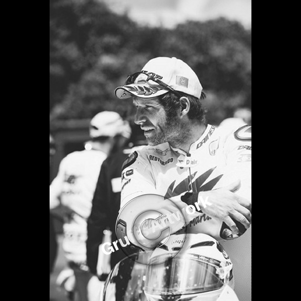 Hand Signed Guy Martin 'Now Then Boy' Black/White Photo