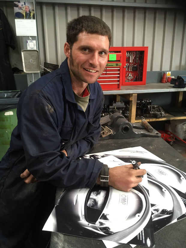 Hand Signed Guy Martin 'All About the Eyes' Photo