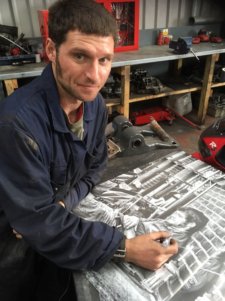 Hand Signed Guy Martin 'Sleepy Guy' Photo