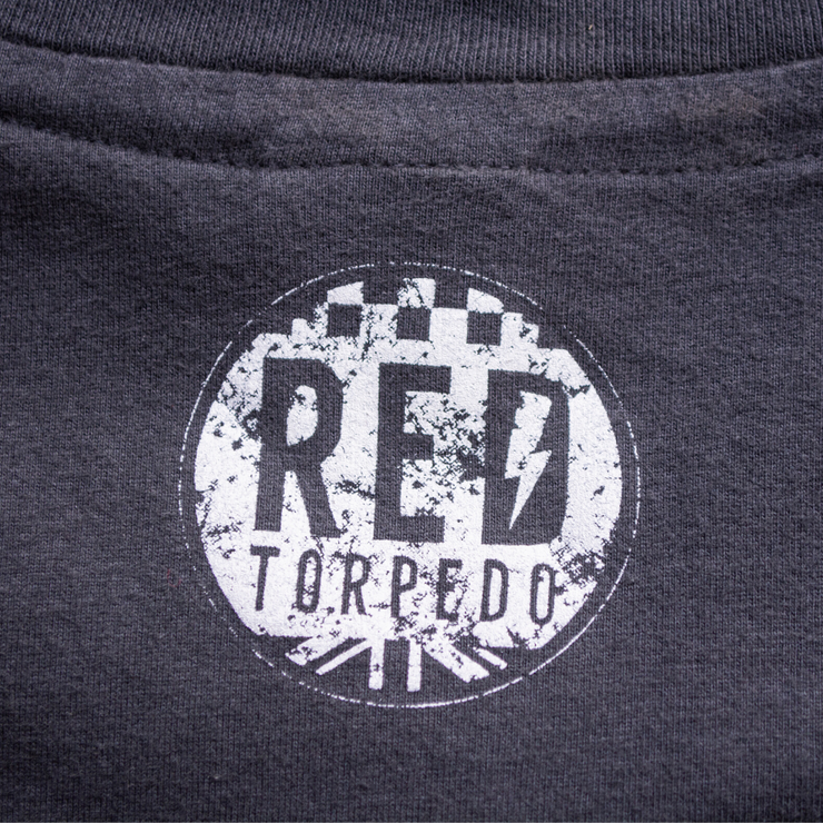 Red Torpedo Built for Speed (Mens) Black T-Shirt