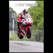 Hand Signed John McGuinness 'Ballaugh-Bourne' Photo