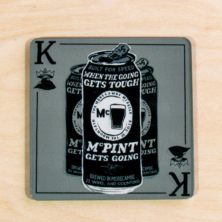 John McGuinness 'Tough Nut' Metal Coaster