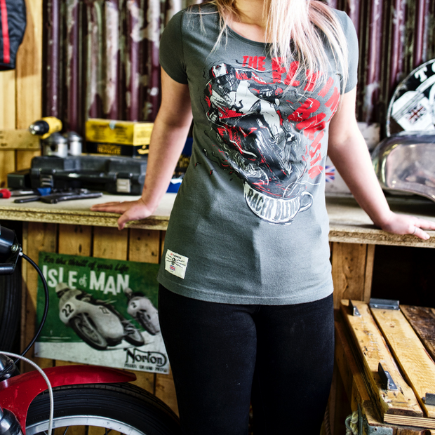 Red Torpedo Conor Cummins The Flying Barista (Ladies) T-Shirt