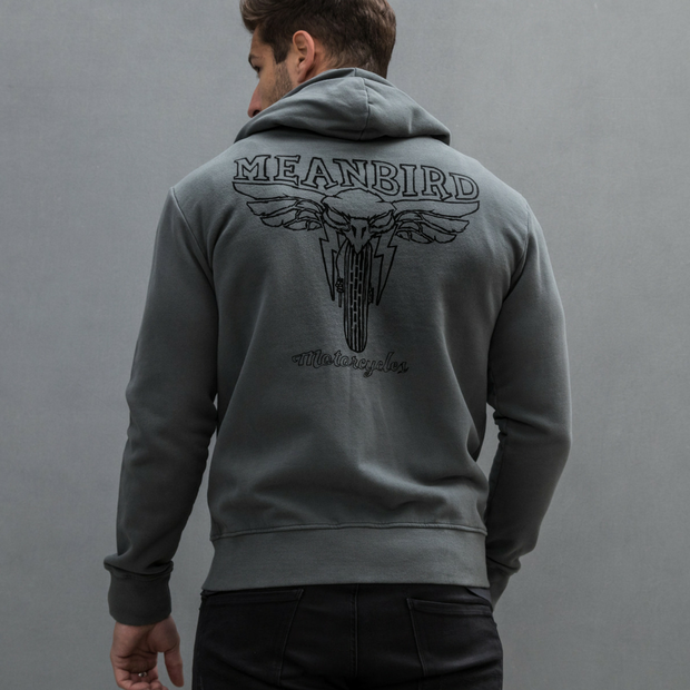 Mean Bird Motorcycles (Mens) Zipper