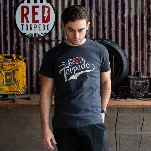 Red Torpedo 'Torpedo' (Mens) Black T-Shirt