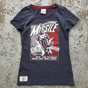 Red Torpedo John McGuinness 'McMissile' (Ladies) Black T-Shirt