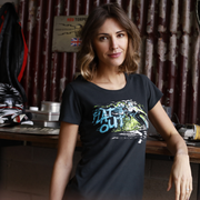 Red Torpedo Dean Harrison 'Flat Out' (Ladies) Black T-Shirt