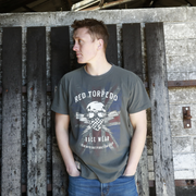 Red Torpedo Patriot (Mens) Graphite T-Shirt