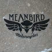 Mean Bird Motorcycles Sticker