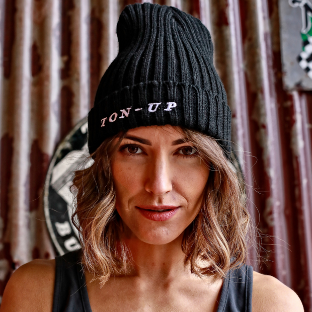 Ton Up Black Beanie