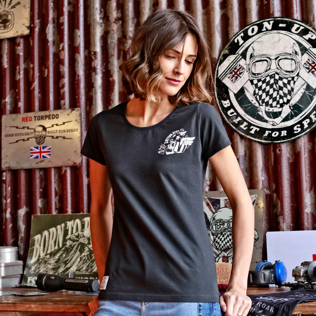 MBM DBW Beach Hog (Ladies) Black T-Shirt