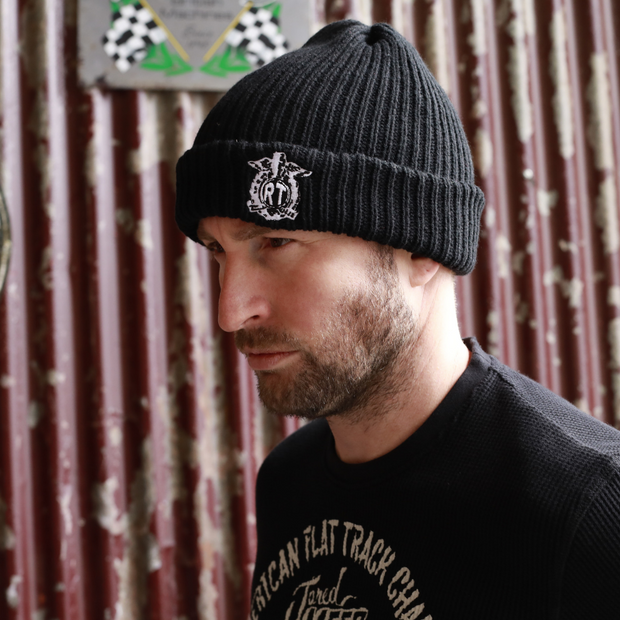 Red Torpedo RT Crest Black Beanie