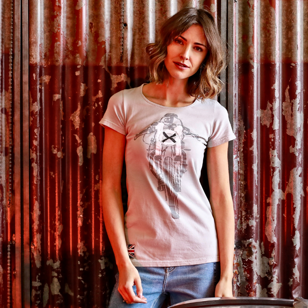 Glemseck Cafe 101 (Ladies) Grey T-Shirt