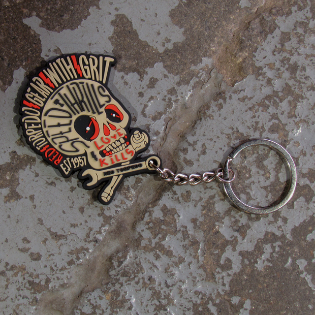 Red Torpedo Speed Punk Keyring