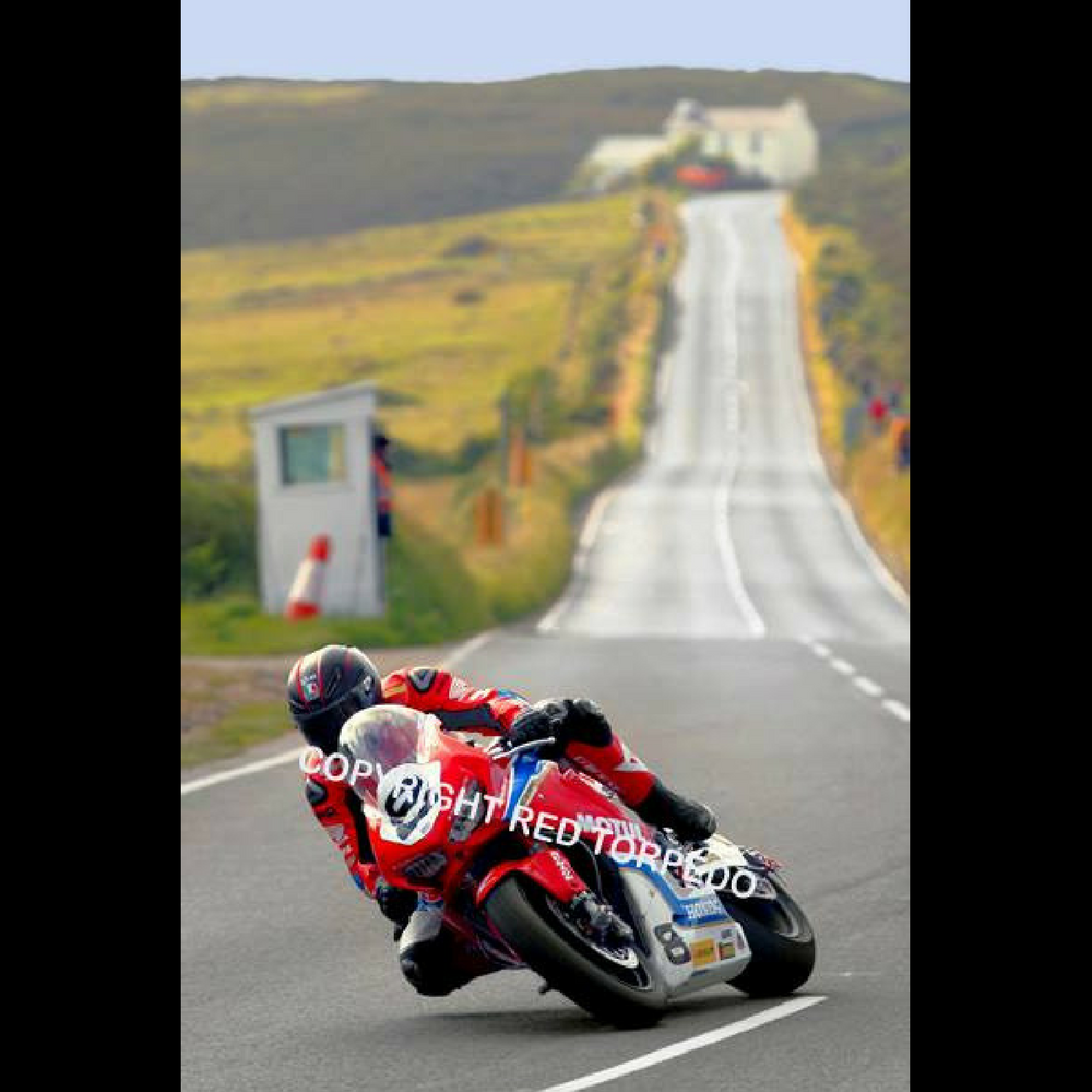 Hand Signed Guy Martin 'Creg 2017' Colour Photo