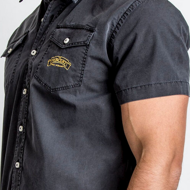 Red Torpedo Vincent (Mens) Black Short Sleeve Shirt