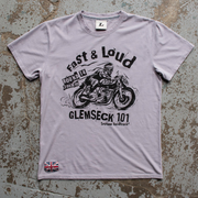 Glemseck Fast n Loud (mens) Titanium Grey T-Shirt