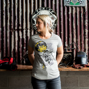 Red Torpedo Guy Martin 'Around the World' (Ladies) Grey T-Shirt (LIMITED EDITION)