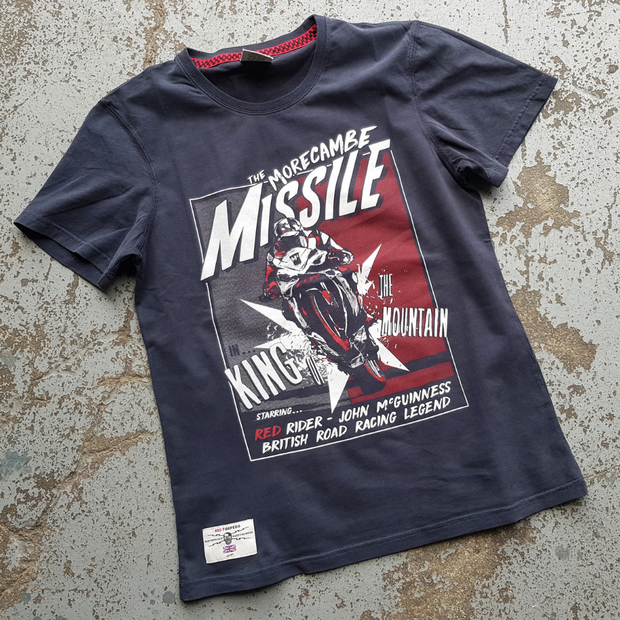 Red Torpedo John McGuinness 'McMissile' (Mens) Black T-Shirt