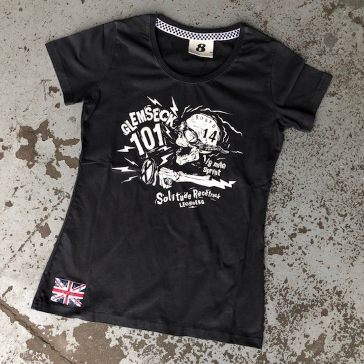 Glemseck Bone Shaker (Ladies) Pirate Black T-Shirt