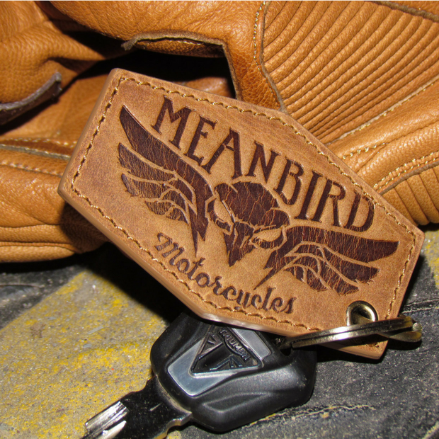 Mean Bird Motorcycles Leather Keyring