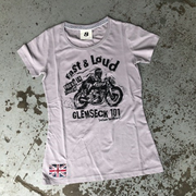 Glemseck Fast n Loud (Ladies) Titanium Grey T-Shirt