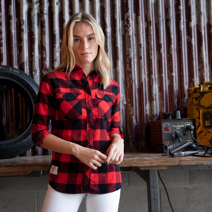 Red Torpedo V Twin 2020 (Ladies) Red/Black Shirt
