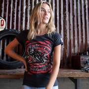 Red Torpedo Conor Cummins Caffiend (Ladies) Anthracite T-Shirt
