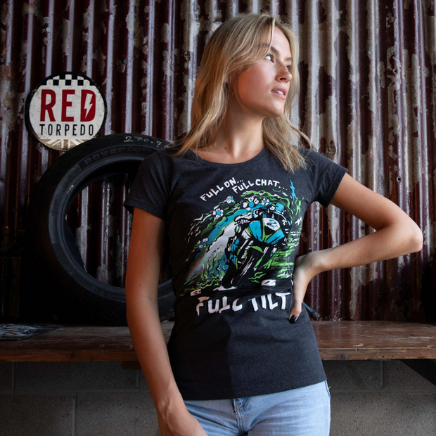 Red Torpedo Dean Harrison Full Tilt (Ladies) Anthracite T-Shirt