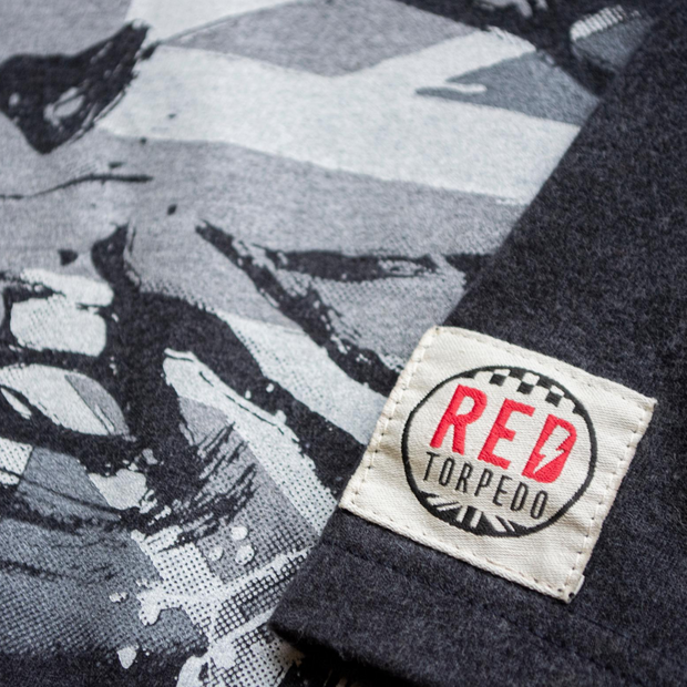 Red Torpedo Guy Martin Rough n Ready Blighty Edn (Mens) Anthracite T-Shirt