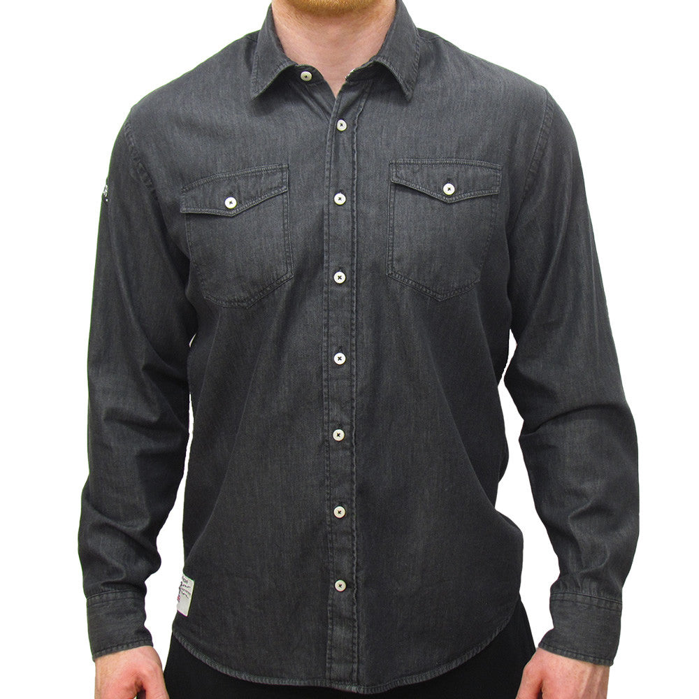 Ace Rockers (Mens) Black Long Sleeve Shirt