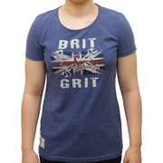 Guy Martin Brit Grit Ladies Blue Marl T-Shirt