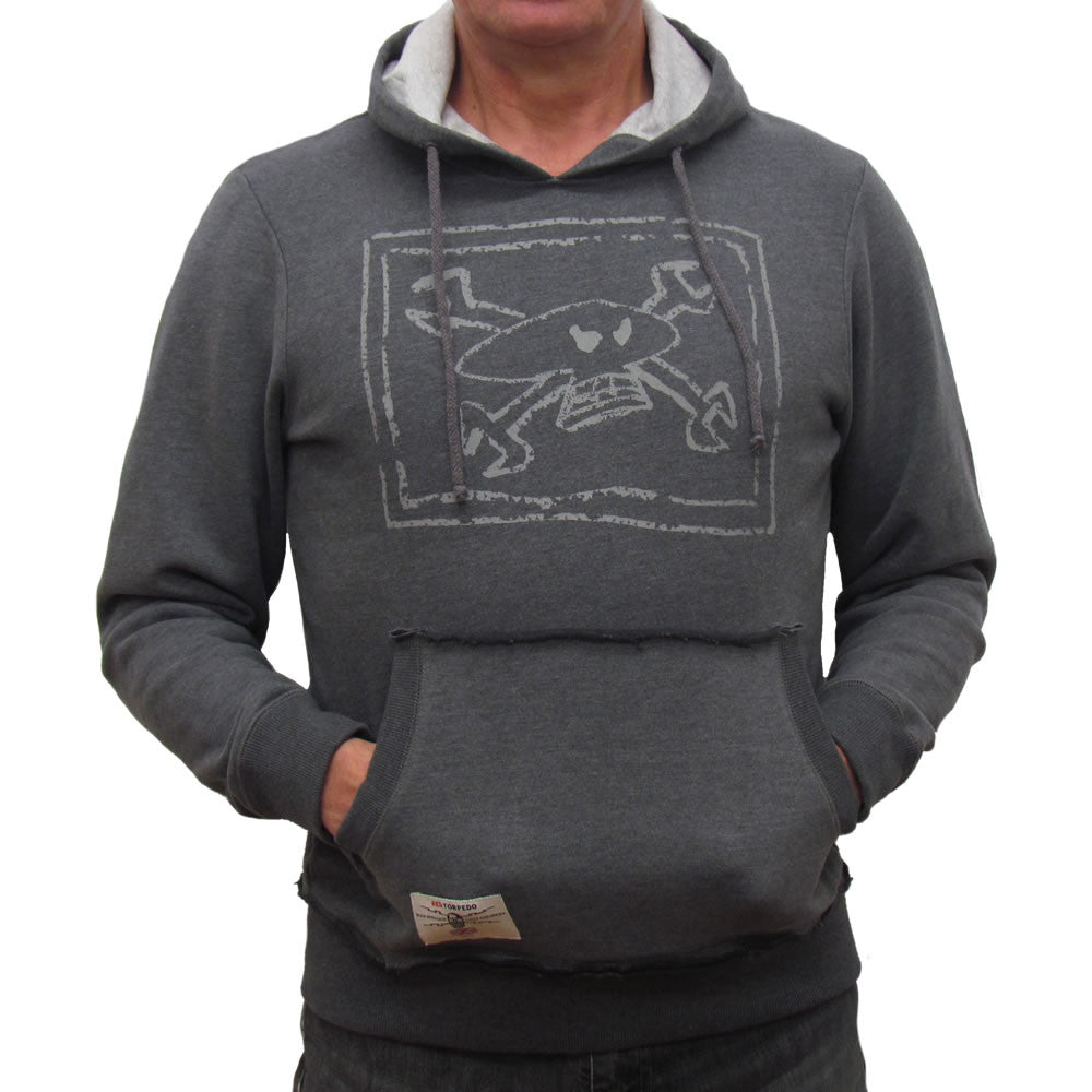 Primo Chalkskull Hoodie - Graphite / Silver