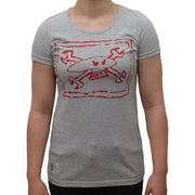 Guy Martin Chalkskull (Womens) Grey Marle T-Shirt