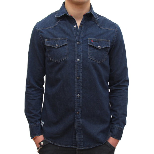 Easy Rider (Mens) Long Sleeved Denim Shirt