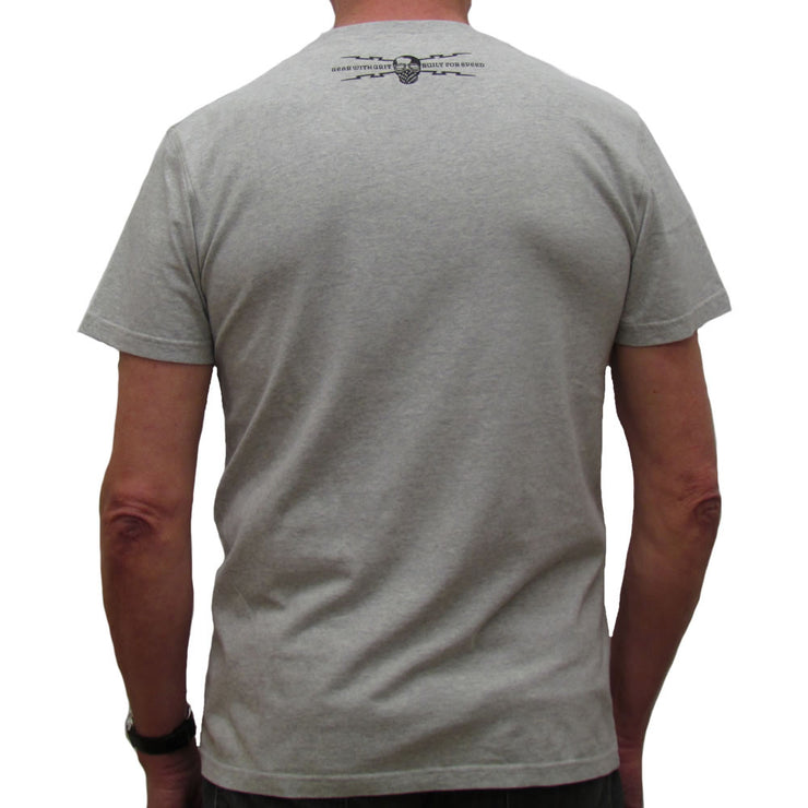 Fuel For The Frame (Mens) Grey Marl T-Shirt