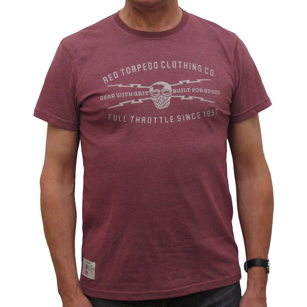 Gear with Grit (Mens) Burgundy Marl T-Shirt