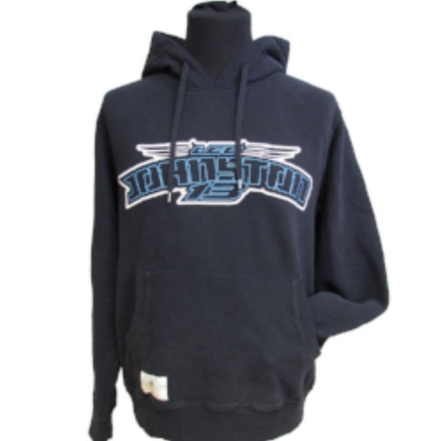 Johnston 13 - Black Pullover Hoodie