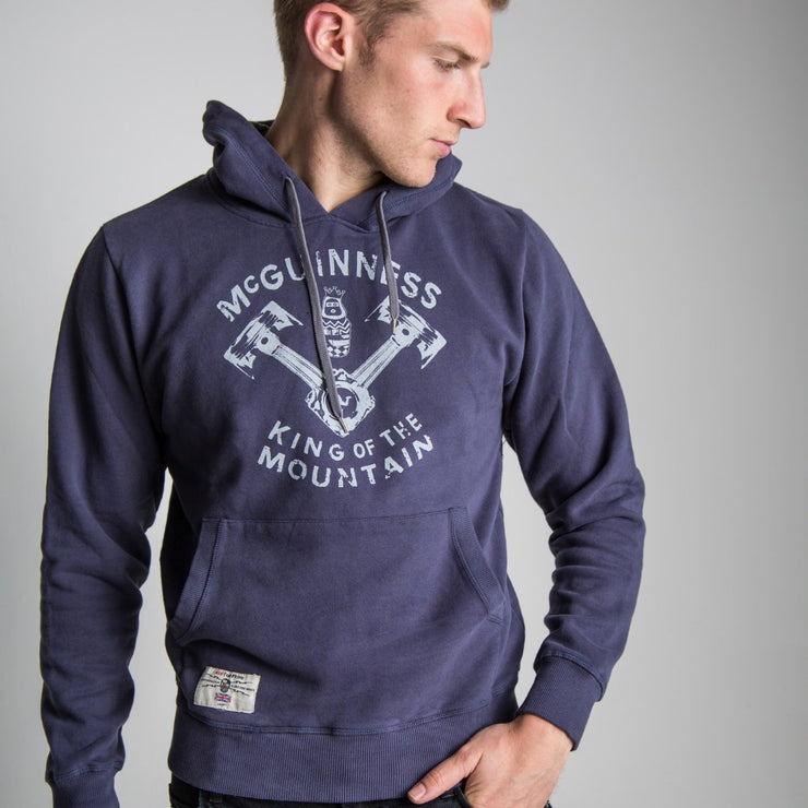 King Of The Road - Navy Pullover Hoodie