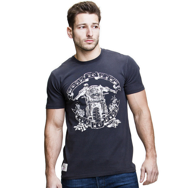 Live to Ride (Mens) Black T-Shirt