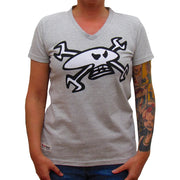 GM Mad Mechanic (Ladies) Grey Marl T-Shirt