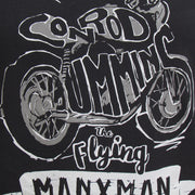 Flying Manxman (Mens) Black T-shirt
