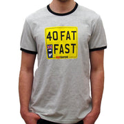 Forty Fat and Fast (Mens) Grey Marl John McGuinness T-Shirt